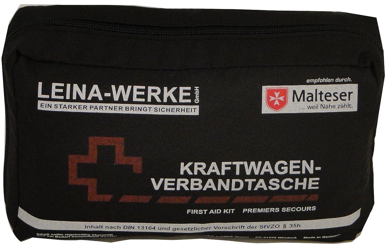 Leina 73602 Kit de Primeros Auxilios, Negro/Rojo Leina Werke GmbH