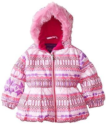 Amazon.com: Pistachio Baby Girls' Fair Isle Print Jacket, Pink ...