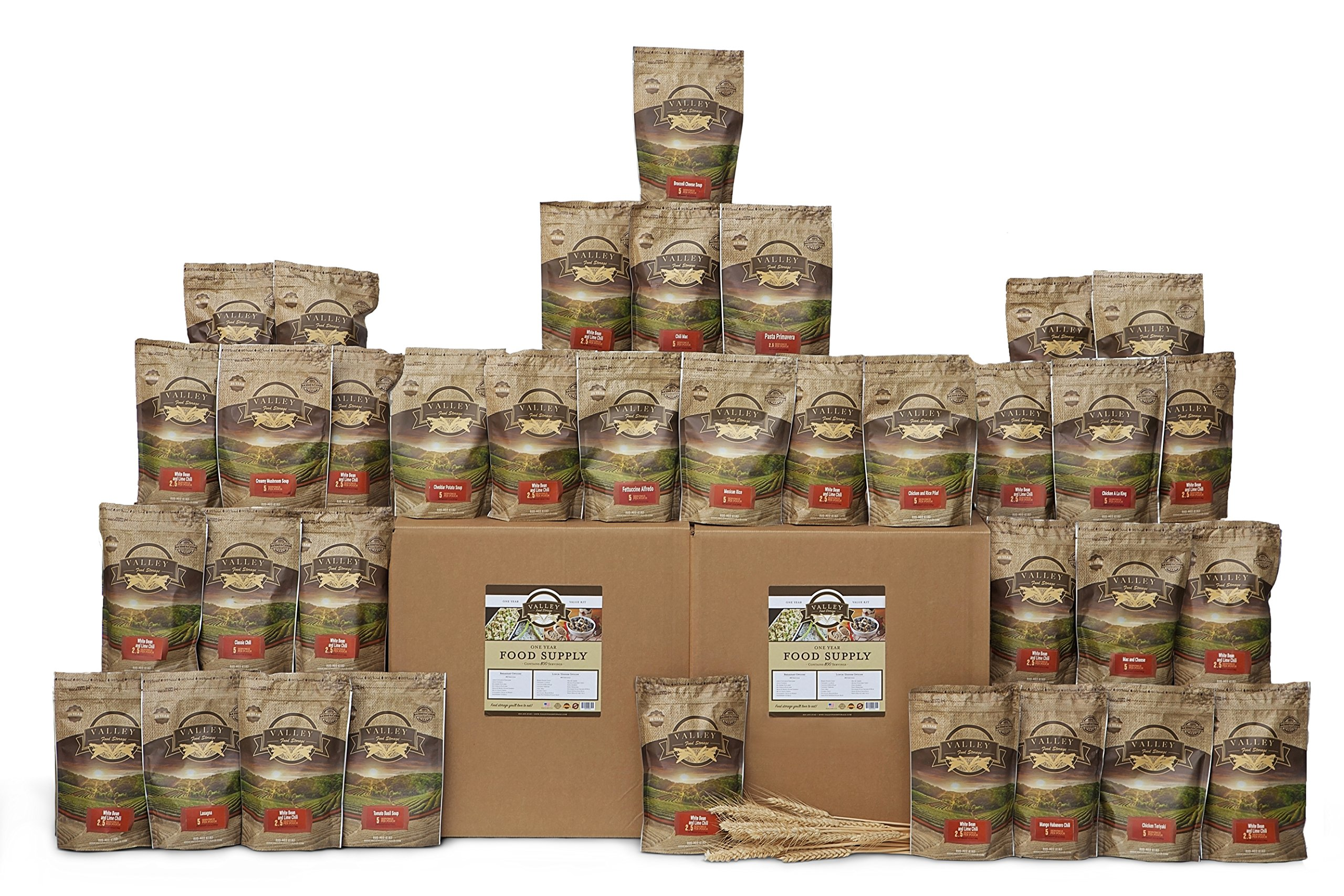 1 Year Value Long Term Pantry Supply of Healthy Freeze Dried Survival Food for Emergency Preparedness - Valley Food Storage…