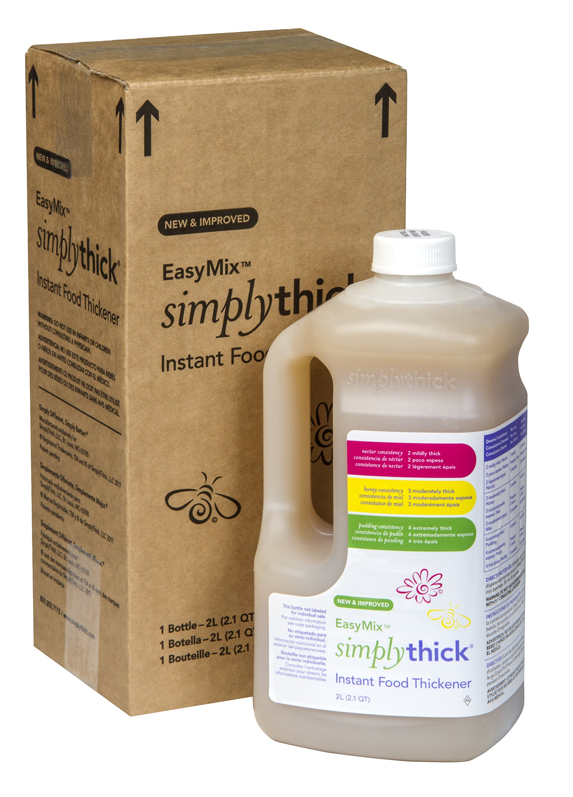 SimplyThick Easy Mix Gel Thickener- 2 Liter Bottle with Pump