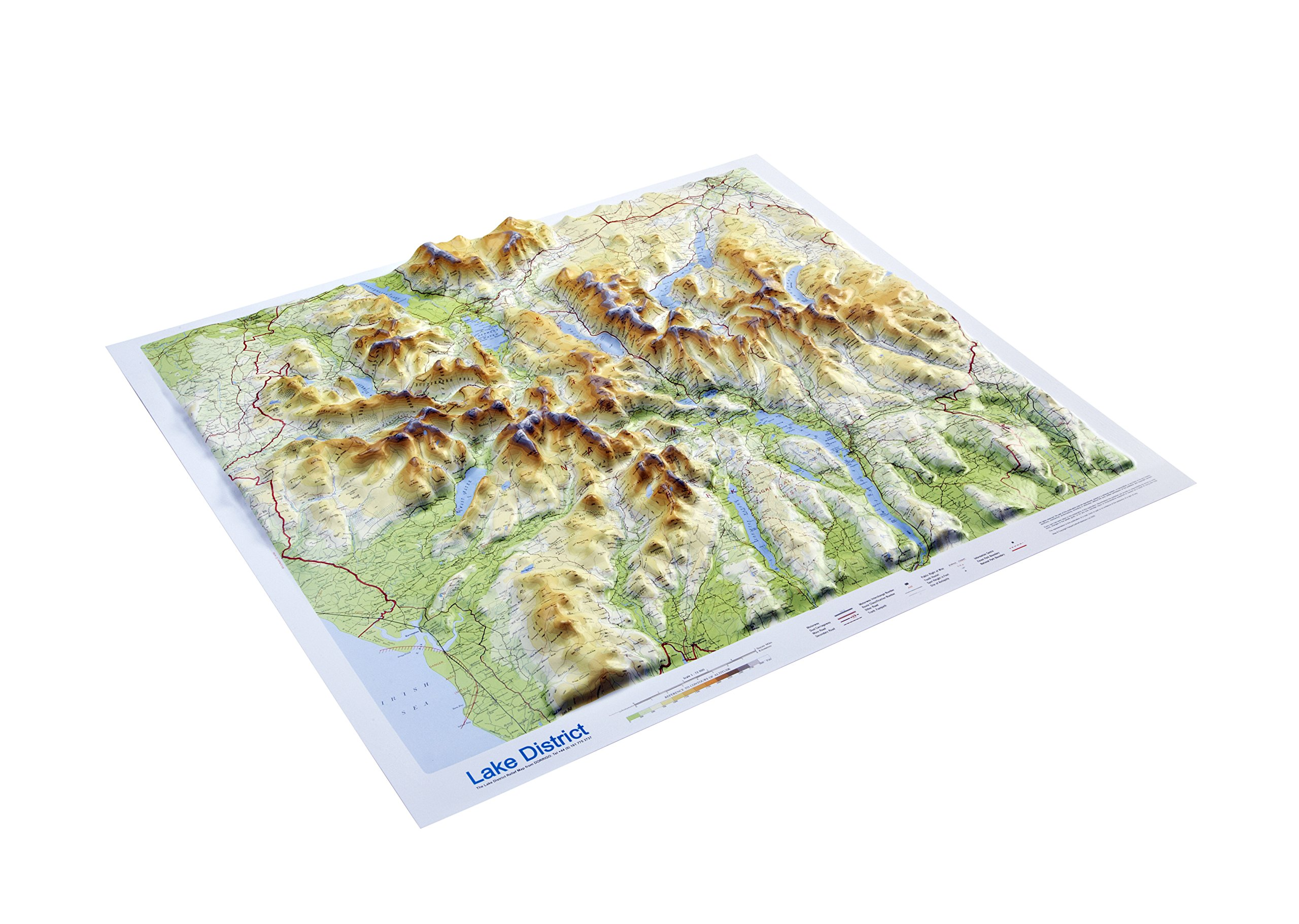 relief map of lake district Buy Lake District Raised Relief Map Unframed Raised Relief Maps Series Book Online At Low Prices In India Lake District Raised Relief Map Unframed Raised Relief Maps Series Reviews Ratings relief map of lake district