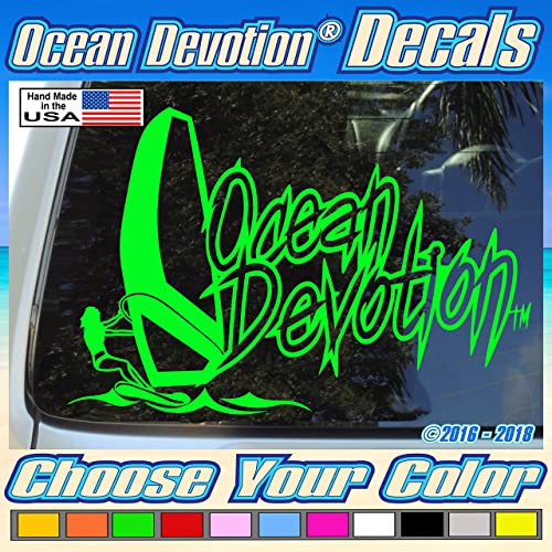 Sea Turtle Ocean Devotion Vinyl Decal//Sticker Surf Beach Car Window Salt Life