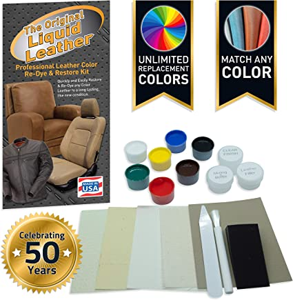 Amazon Com Liquid Leather Repair And Re Color Kit For All Vinyl