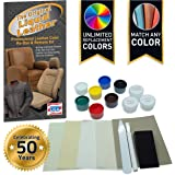Liquid Leather Repair and Re-Color Kit for All Vinyl & Leather. Restores to New Condition; Car Seats, Boats, Upholstery…