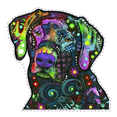 Enjoy It Dean Russo Black Lab Car Stickers, Labrador Retriever Window Decals, 2 Pieces: Toys & Games