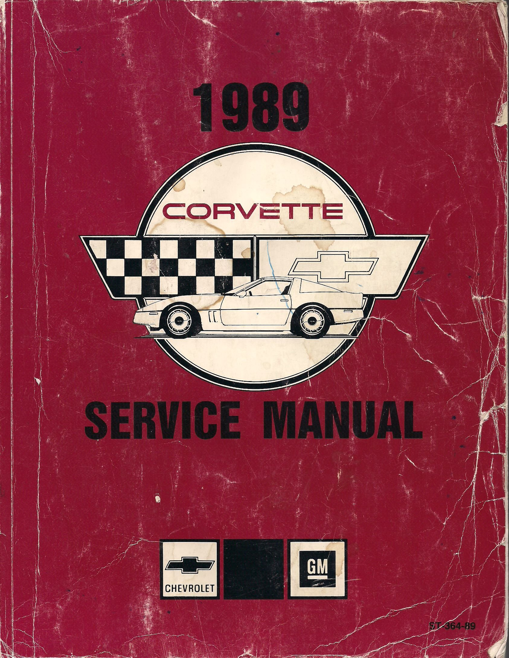 1989 Corvette Service Manual: Chevrolet, b/w Illustrations: Amazon.com:  Books
