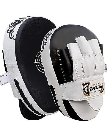 Nubstoer Paquete de 2 Leather Boxing Mitt Training Target Focus Punch Pad Glove Karate Muay Thai Kick MMA