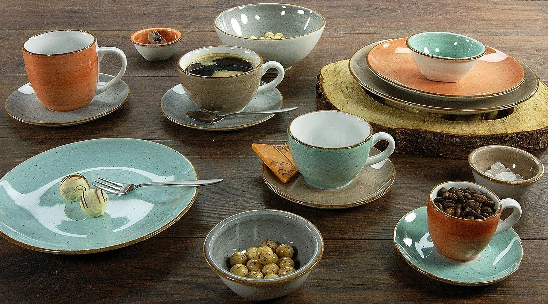 CreaTable 17725 Geschirrset Kaffeetassenset 8 teilig Serie Vintage Nature