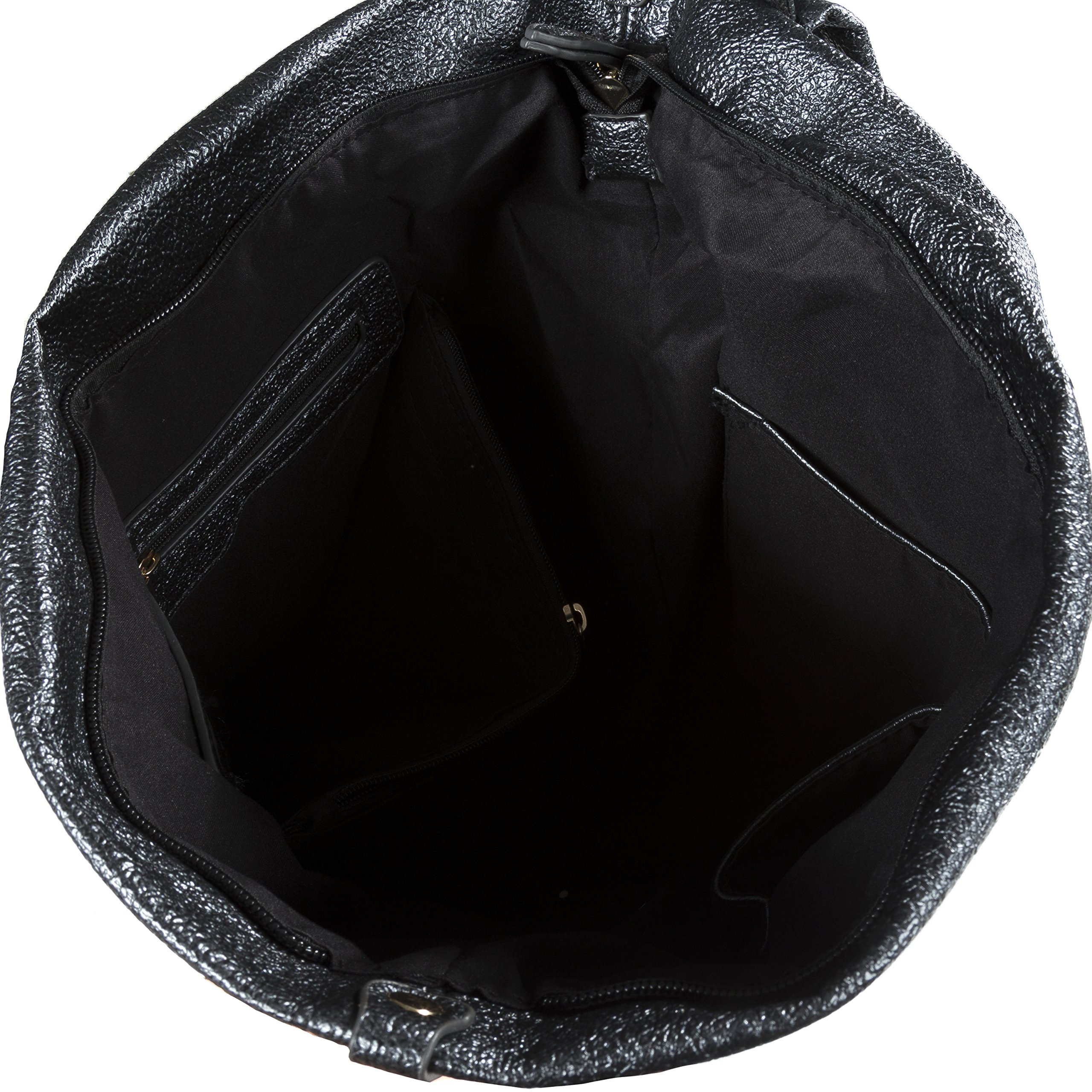 Handbag Republic Fashion Backpack Vegan Leather Travel Bag Easy Carry For Women by Handbag Republic (Image #5)