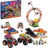 LEGO 60295 City Stuntz Stuntshow Arena Bouwset met 2 Monster Trucks, 2 Speelgoedauto's, Motor met Vliegwielaandrijving…