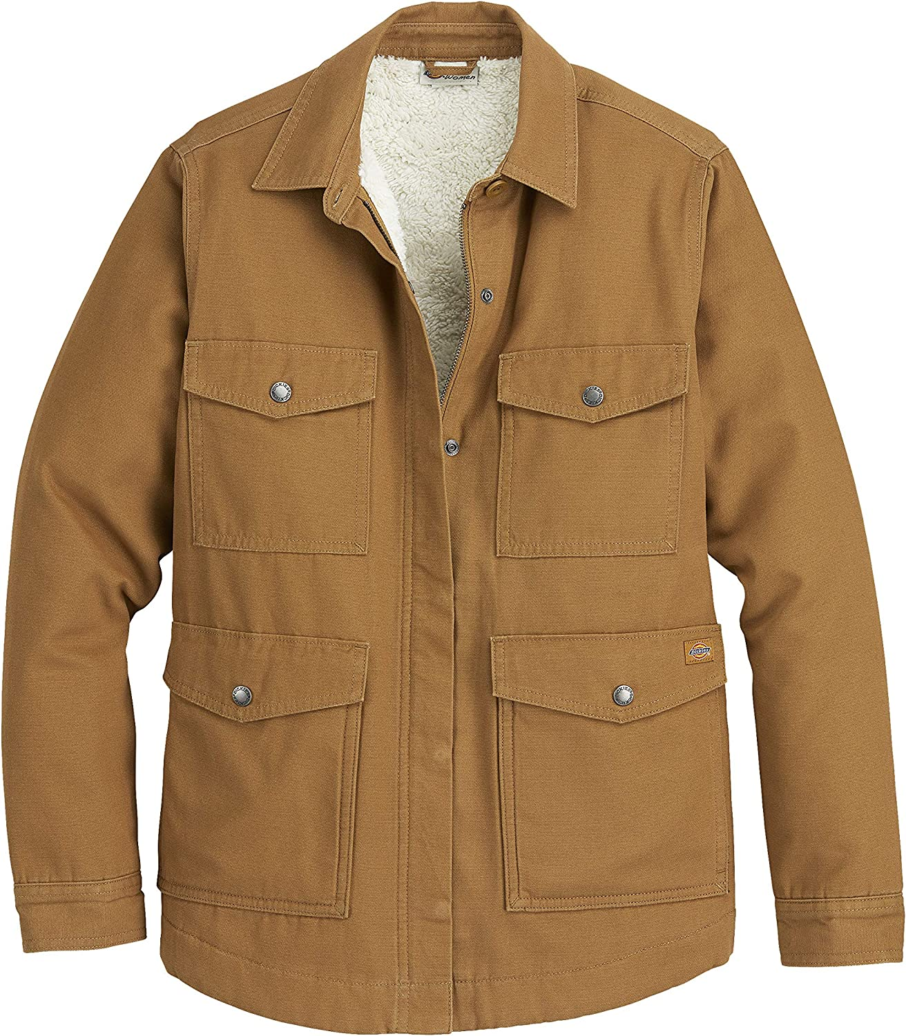 Dickies Women's Duck Sherpa Lined Chore Coat: Clothing