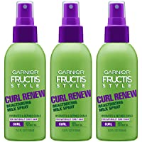 Garnier Fructis Style Curl Renew Reactivating Milk Spray For Curly Hair, 5 Ounce...