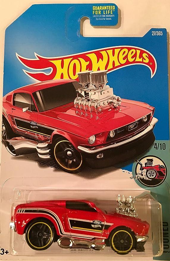 2017 Hot Wheels  Blue /'68 Mustang  Tooned   Card #124  HW44-040718