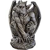 Design Toscano Silas the Sentry Gargoyle Gothic Decor Statue, 61 cm, Polyresin, Greystone