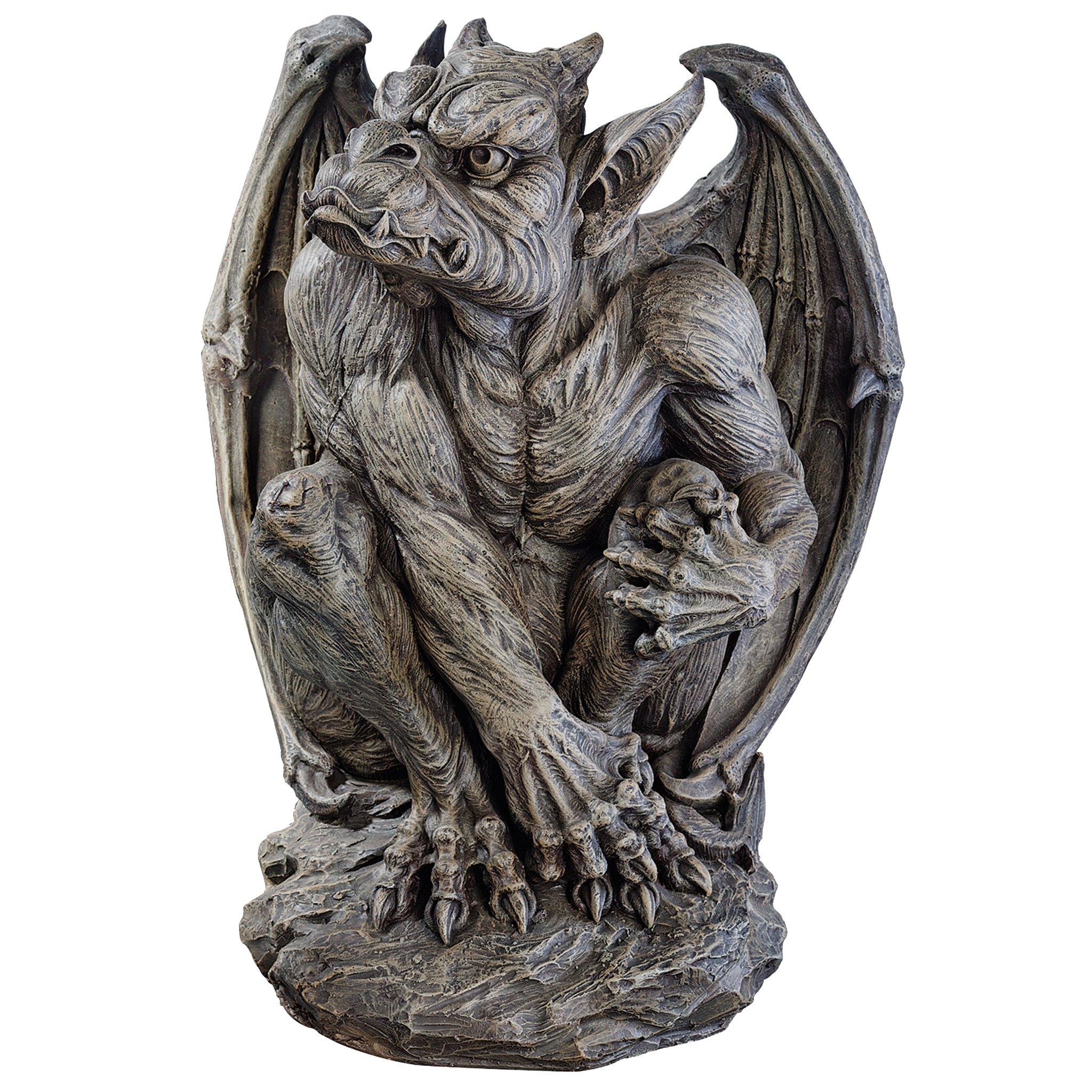 Design Toscano JE11211701 Silas The Sentry Gargoyle Gothic Decor Statue, Large Stone