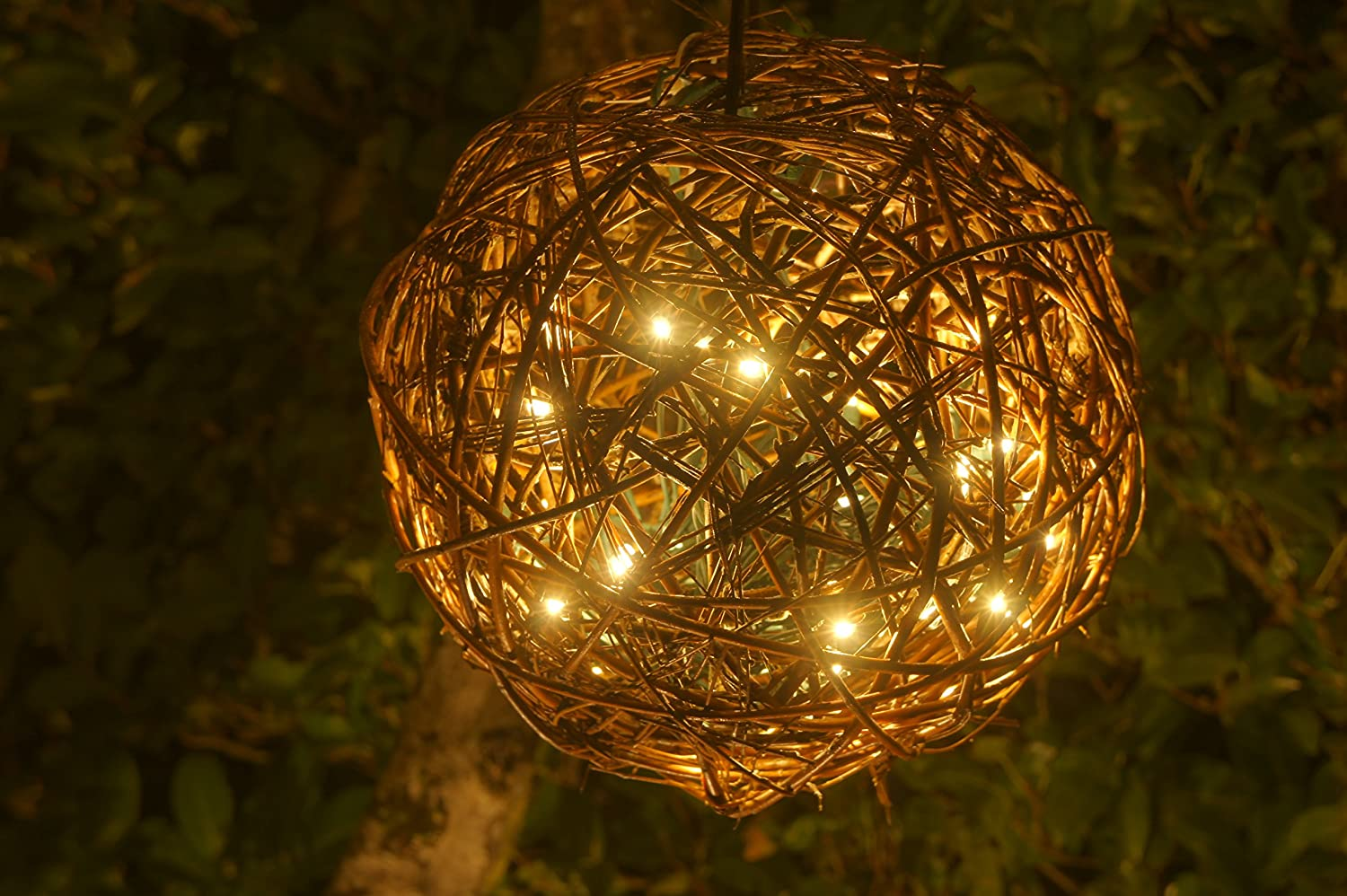 amazoncom willowbrite globe 12 globe filled with 100 warm white leds natural willow branch pendant lamp christmas decor night globe tree light ball - Christmas Sphere Lights