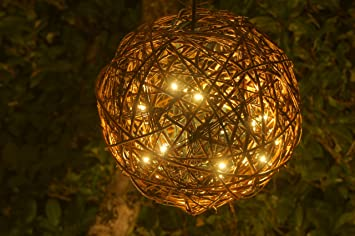 Amazon willowbrite globe 12 globe filled with 100 warm willowbrite globe 12quot globe filled with 100 warm white leds natural willow branch mozeypictures Image collections