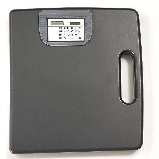 Officemate 83372 Tragbare Klemmbrett Koffer mit Taschenrechner