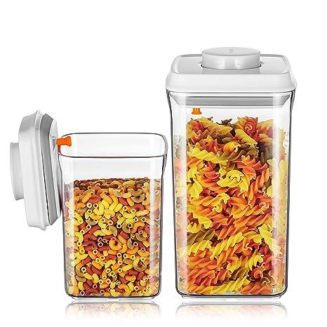 Dispensador de cereales Ankou, sin BPA, recipientes herméticos de almacenamiento de alimentos, jarra