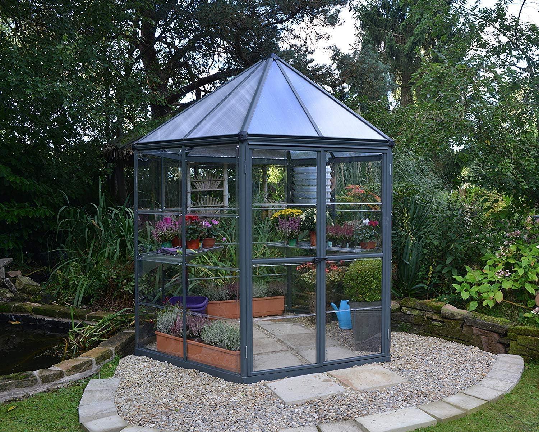 Palram Oasis Hexagonal - Invernadero, Color Gris: Amazon.es: Jardín
