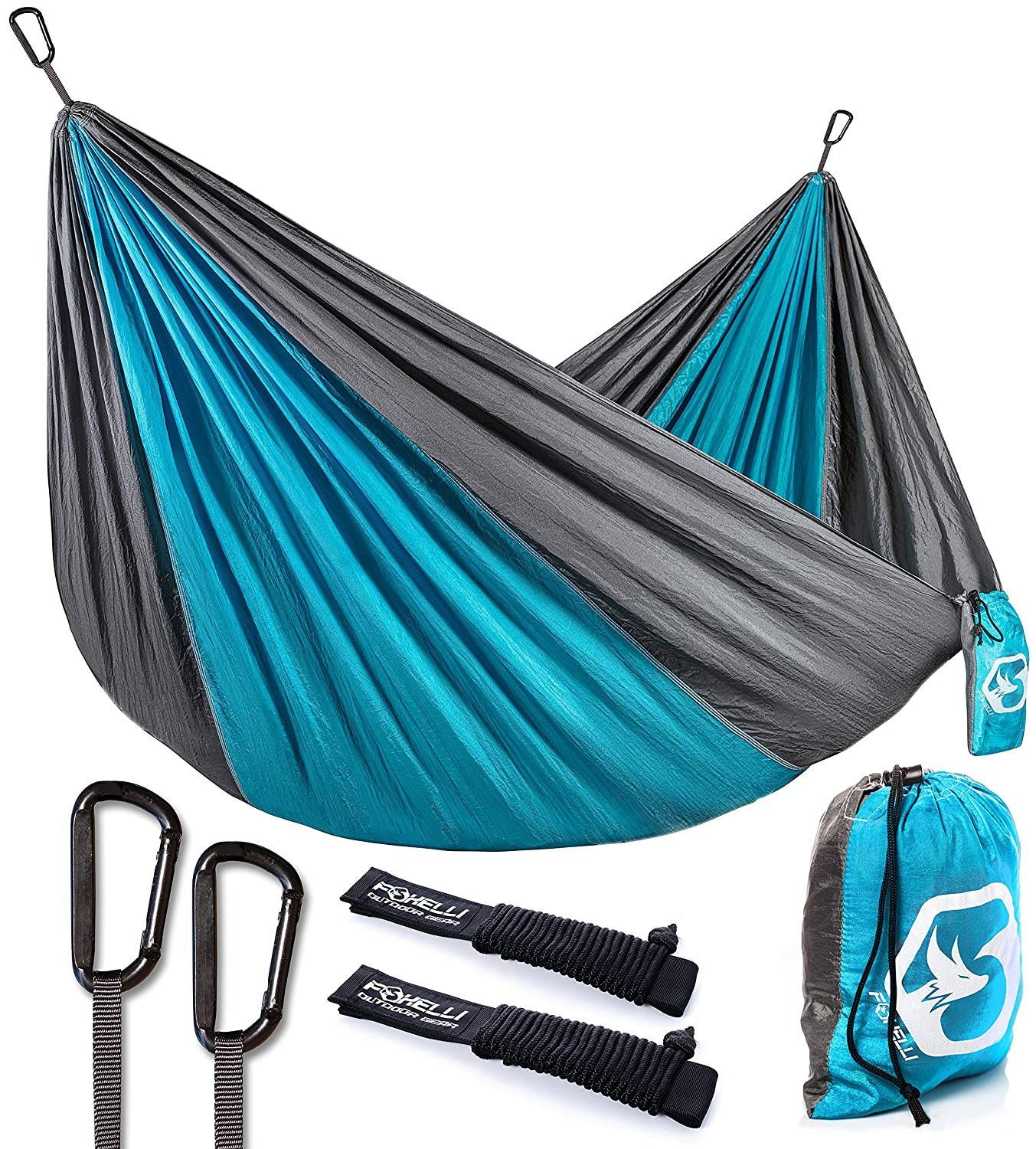 Foxelli Camping Hammock U2013 Lightweight Parachute Nylon Portable Hammock With  Tree Ropes And Carabiners, Perfect For Outdoors, Backpacking, Hiking,  Camping, ...