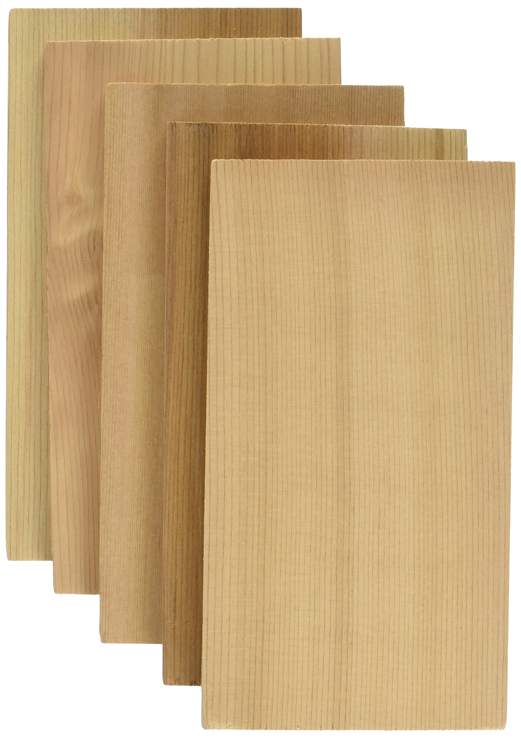 Jaccard Premium Cedar Grilling Planks (5 Pack), Small, Brown Cedar Wood