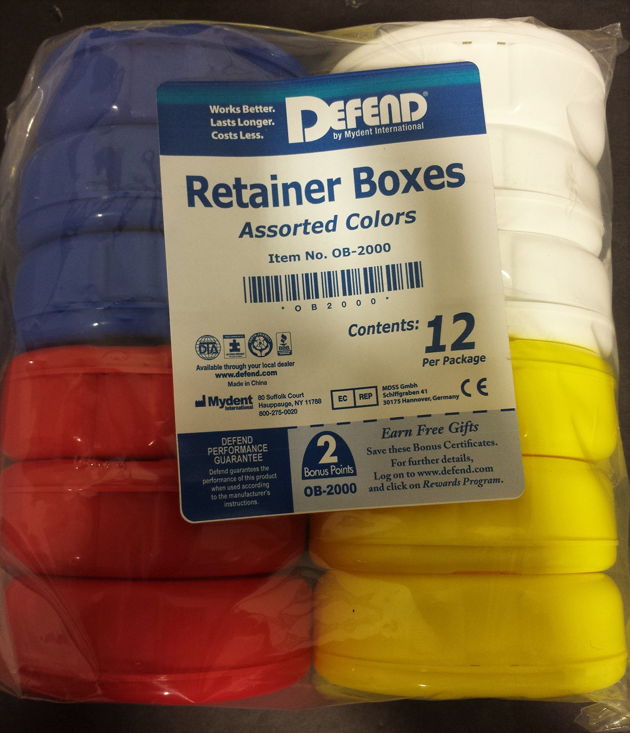 60 Retainer Box Assorted Colors by Defend by DEFEND (Image #2)