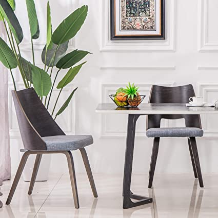 YEEFY Living Room Chairs Fabric Dining Chair Green Dining Room Chairs, Set  of 2(Gray