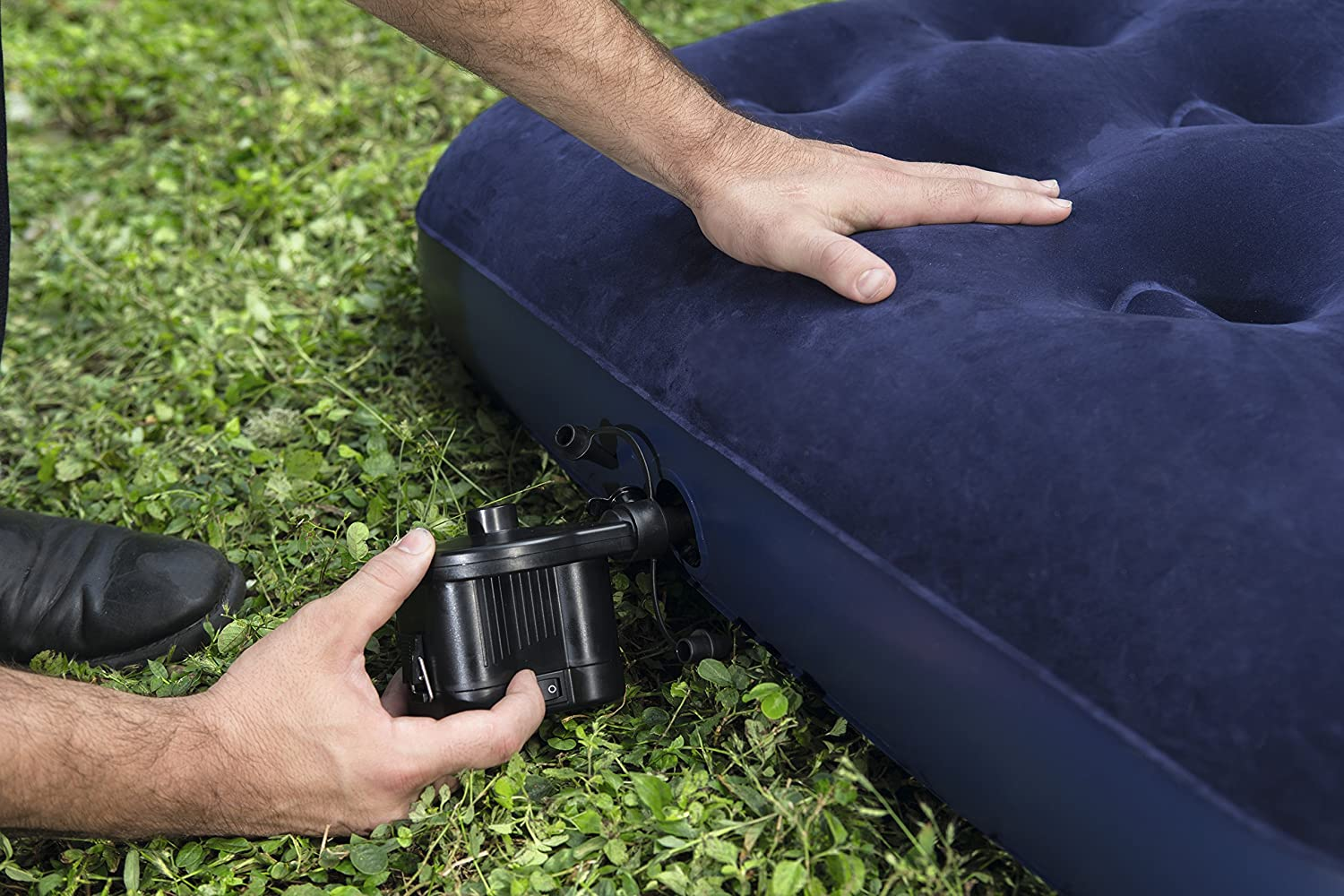 Bestway Flocked Air Bed - Colchon flocado de camping, 188 x 99 x 22 cm: Amazon.es: Deportes y aire libre