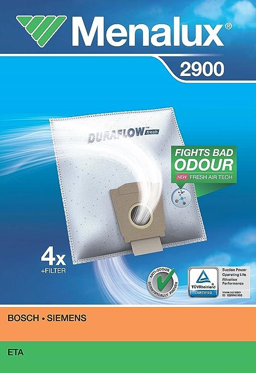 Menalux 2900 Duraflow - Bolsas para aspiradoras Bosch y ...