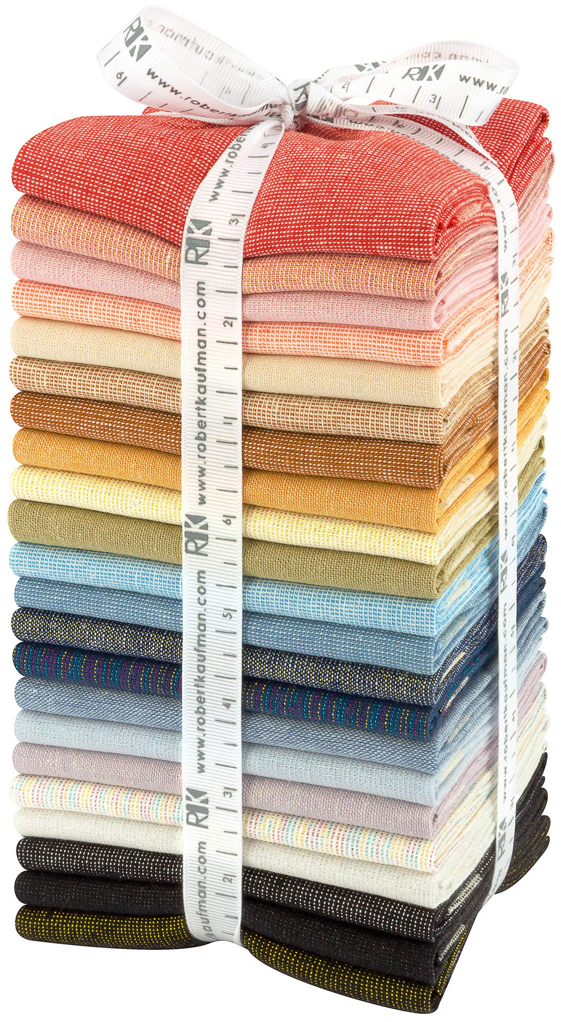 Essex Yarn Dyed 2018 New Colors 22 Fat Quarters Robert Kaufman Fabrics FQ-1456-22 by Robert Kaufman Fabrics (Image #1)