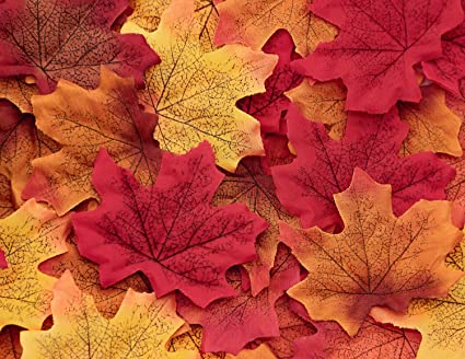 amazon com moon boat 500pcs fall artificial maple leaves
