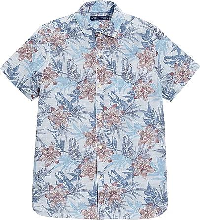 next Niños Camisa Manga Corta Estampado Flores (3-16 Años) Corte Estándar Azul 16 años: Amazon.es: Ropa y accesorios