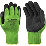 Lakeland Industries 1005M Spidergrip Bamboo Viscose Knit Palm Coated Glove (One Pair), Medium, Green