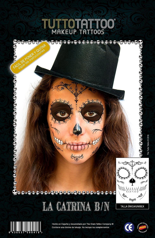 TuttoTattoo-Tatuaje Máscara Temporal, Make Up Tattoo Maquillaje Cara, Disfraz (Comunicación Grafica 20163TCATBN): Amazon.es: Juguetes y juegos