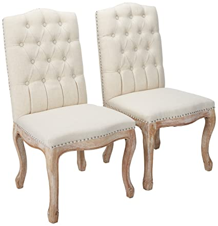 Christopher Knight Home 214308 Jolie Beige Linen Dining Chair (Set Of 2)