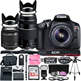 Canon EOS Rebel T6 DSLR Camera with Canon 18-55mm IS II Lens Bundle + Canon EF 75-300mm f/4-5.6 III Lens + 32GB Memory + Filters + Monopod + Spider Tripod + Camera Works Professional Bundle
