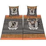Herding 445958250 Partner-Bettwasche Platzhirsch/Edelzicke im Doppelpack ( Inhalt: 1 x Bettwasche Edelzicke. 1 x Bettwasche Platzhirsch ), 80 x 80 cm + 135 x 200 cm, Renforce