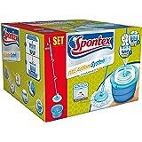 Spontex Full Action Sistema Lavapavimenti, Plastica e Microfibre, Azzurro/Bianco