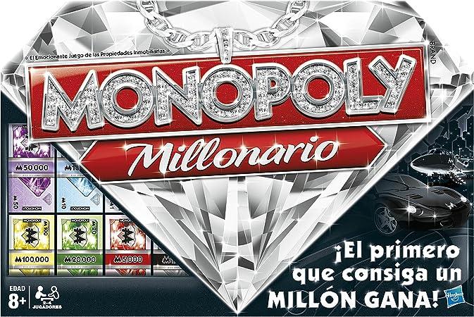 Monopoly Hasbro Gaming Millonario (98838105): Amazon.es: Juguetes ...