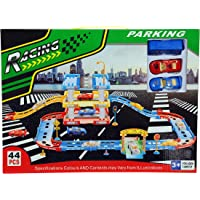 BabyGo Racing Track with Toy Cars Racing Track 44 PCs Parking Garage for Kids Toy