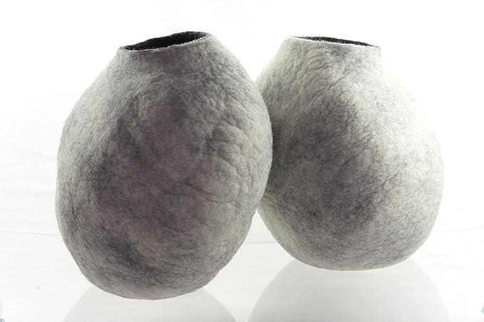 Cama de gato, casa, Cave. Fabricada a mano. feutré de lana natural. Color gris de nieve. Talla M (Medium) patines.: Amazon.es: Productos para mascotas