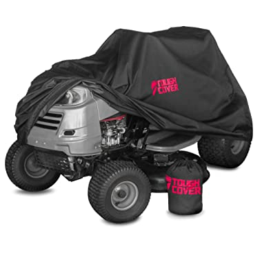 ToughCover Premium Lawn Tractor Cover by Riding Lawn Mower Cover Made with 600D Marine Grade Fabric | Features Double Stitched Seams & Interior Waterproof Coating | for Up to 54  Decks