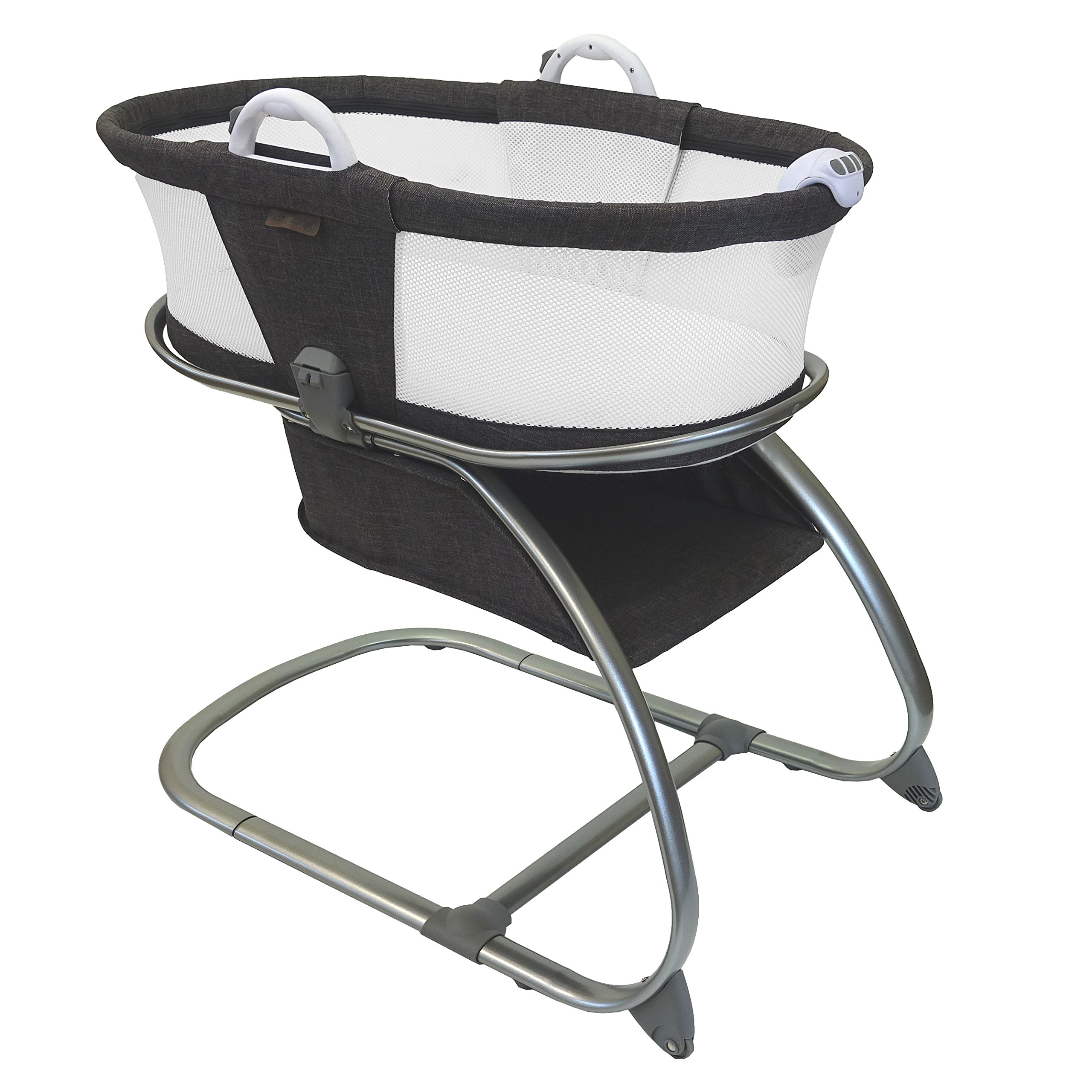 Luxe Premium Quality Baby Planet Oasis Breathable Mesh Convertible Bassinet (Graphite) by BABYPLANET