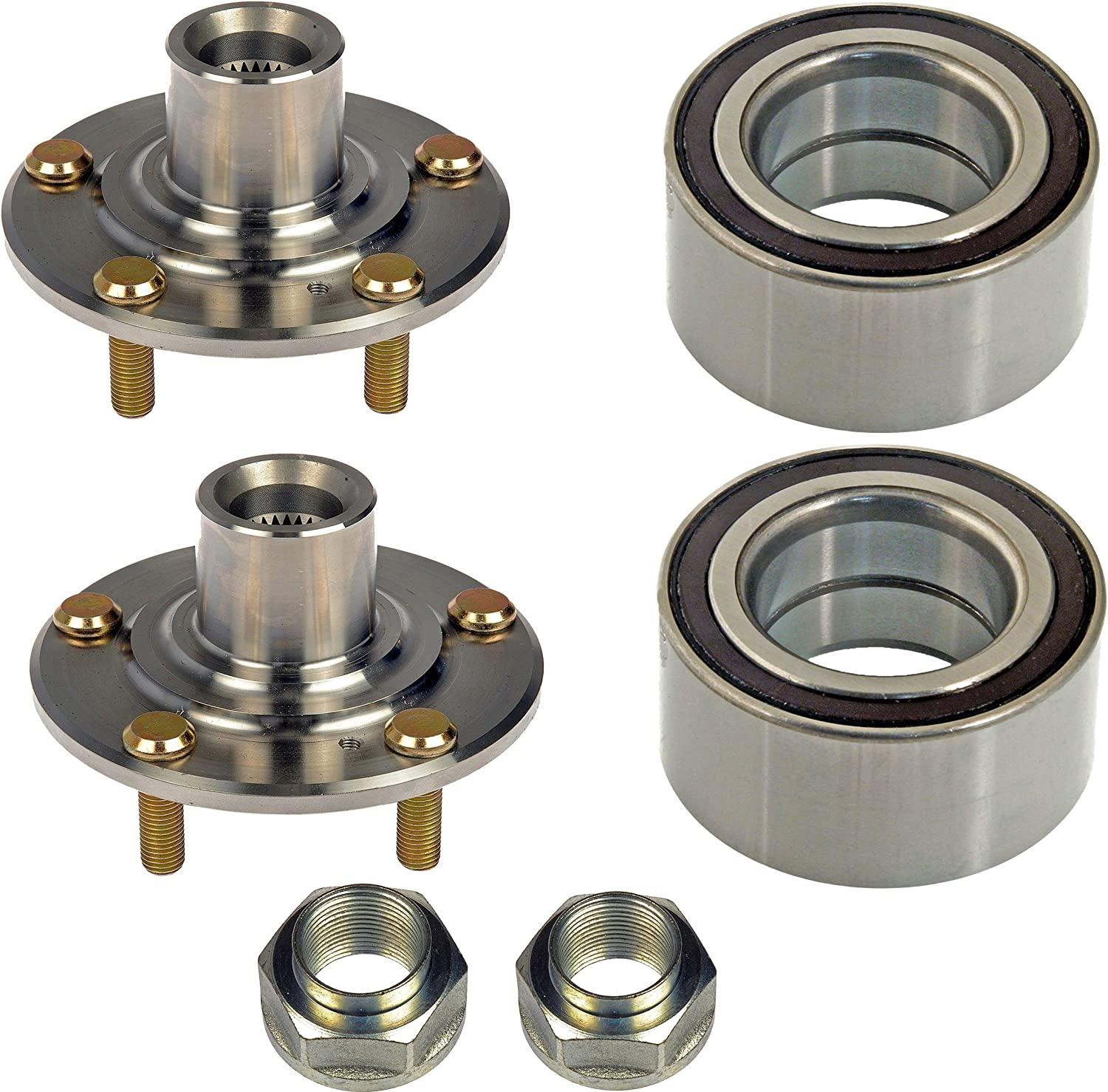 DTA DWH510089510089 x2 2 Front Wheel Hub Wheel Bearing Kits Left and Right Fits 2006-2011 Honda Civic DX EX GX LX; Excludes Si