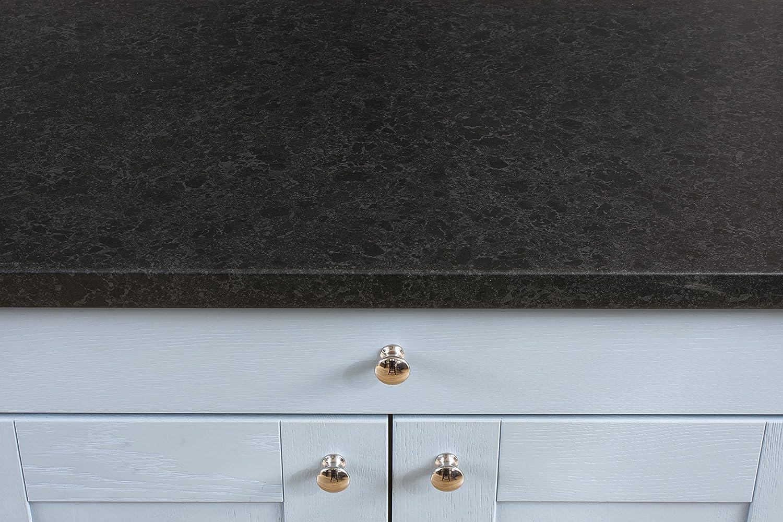 Schwarzer Resopal Granit - Resopal Schwarzer Küchenarbeitsplatten (3m × 900mm × 38mm) 2831a6