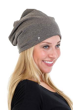 Cappello Maglia Beanie Jersey - Berretti a Maglia piccola fata de 3Elfen  Donna bambina - grigio c2b2bbd87f3e