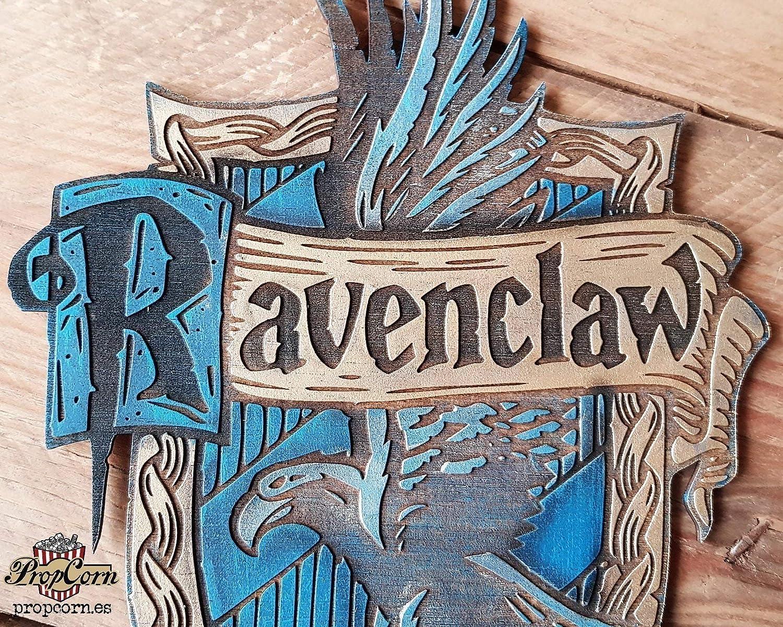 Cartel Casa Ravenclaw hecho en madera, pintado y envejecido ...
