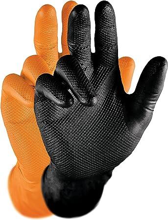 Negro M Piezas de 50 GRIPPAZ qgr-b-m Guantes de Trabajo