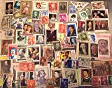 Famous Faces, topical postage stamps